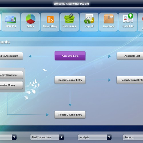 New external designer  - Desktop Application Home Page UI