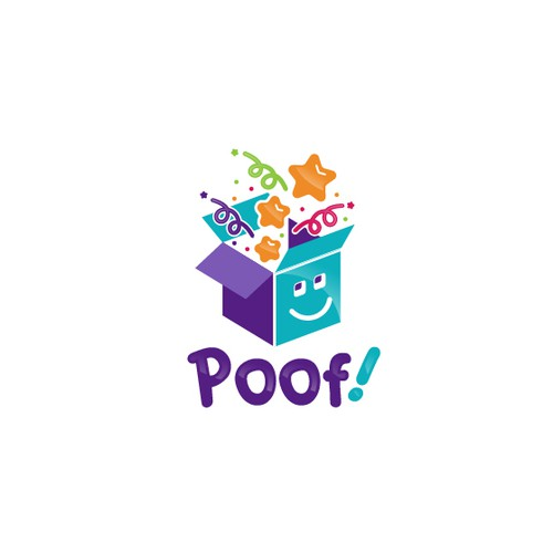 Poof! Logo design