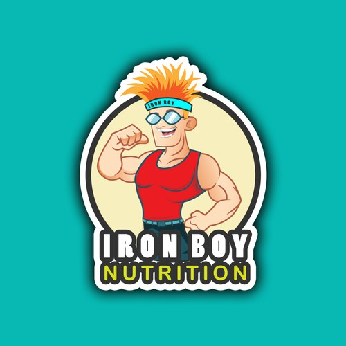 Iron Boy mascot logo