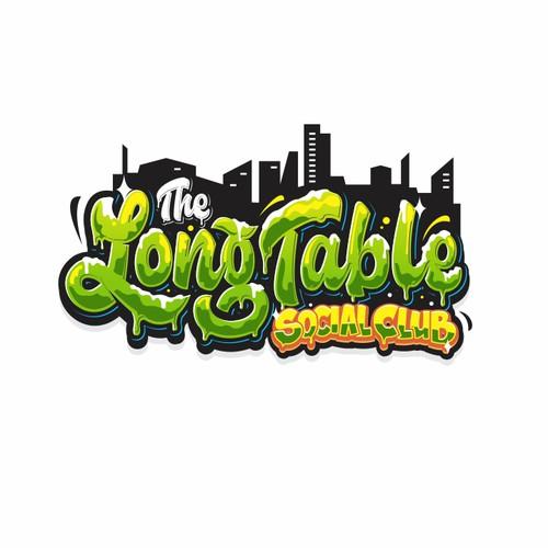 Graffiti logo concept for The Long Table Social Club