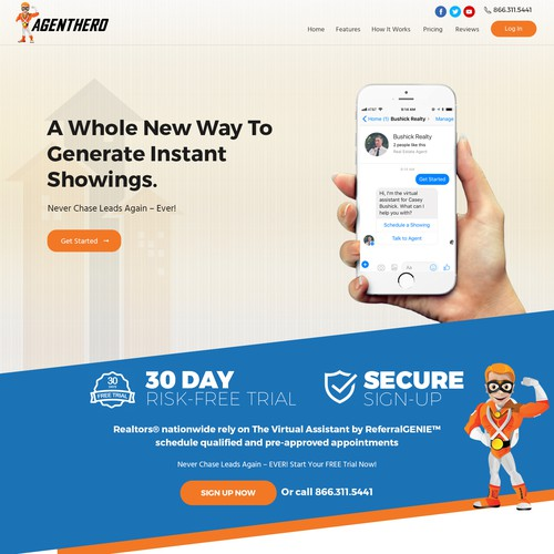 AgentHero Home page design