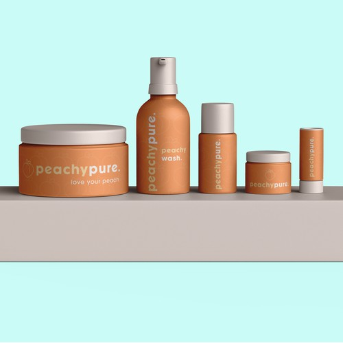 Packaging for Peachy pure