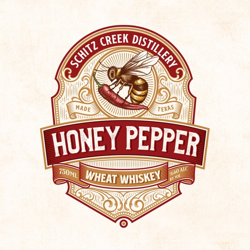 Honey Pepper Whiskey Logo