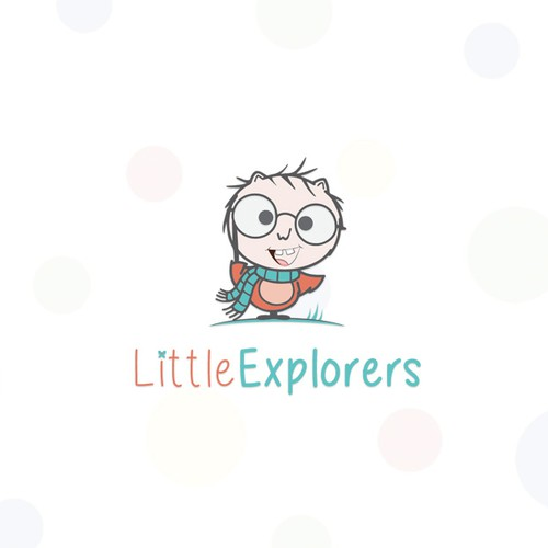 cute and professional logo evoking exploration for a home daycare