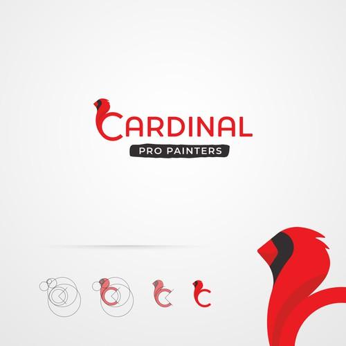 Cardinal Bird Logo Inspired Professional Painters Service