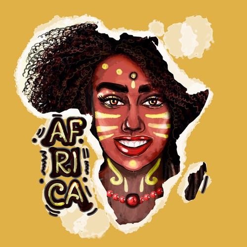 Iluustration for African Woman T-shirt