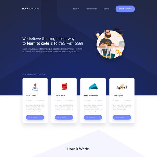 Website Layout for Coding Platform
