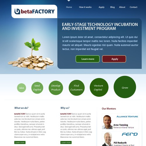 betaFACTORY Website Design