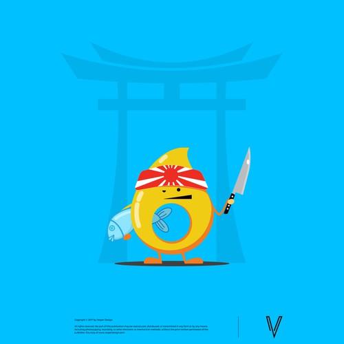 Funny Drop Mascot