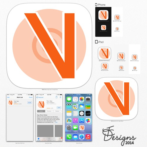 Create a Mobile App Icon for Veromuse