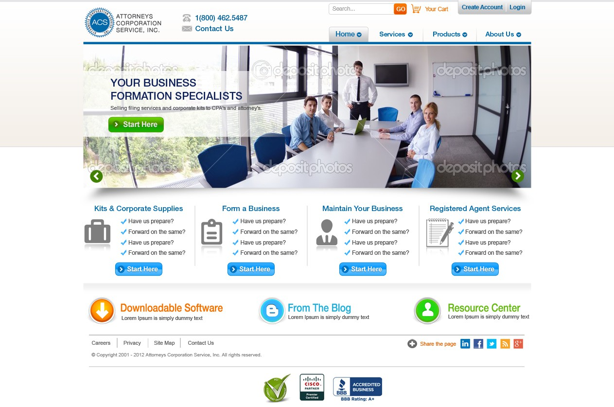 Help Attorney's Corporation Service, Inc.  with a new website design
