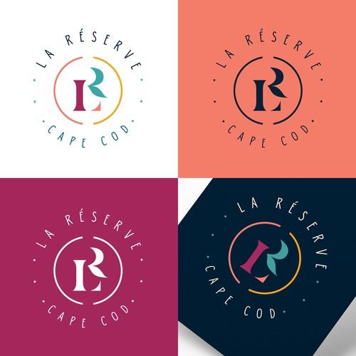 Elegant monogram/seal vacation rental company.