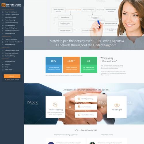 Uktenantdata homepage redesign