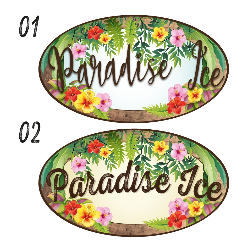 Create the new logo for Paradise Ice