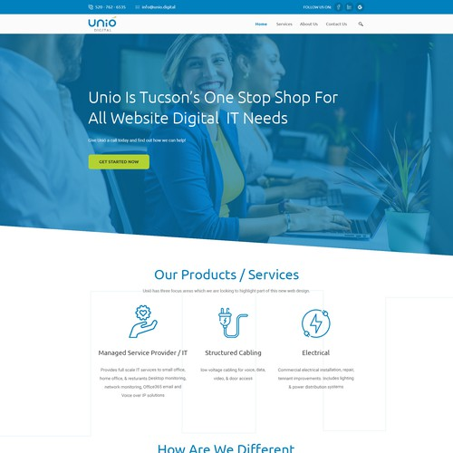 Sleek/Modern Website for Technology / Construction Company