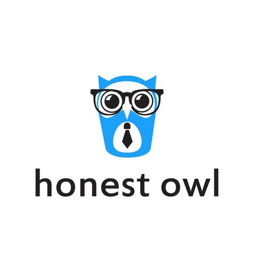 """Create a Modern/Simple Owl(""""Twitter"""" Bird esque) design for HonestOwl"""