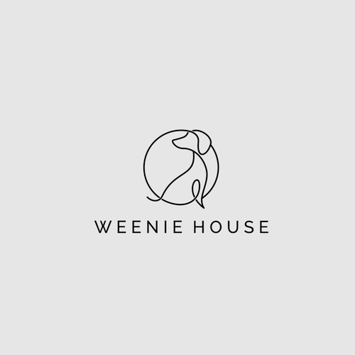 Simple logo design for weenie house