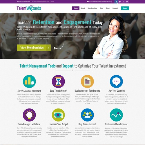 Redesign our Homepage for TalentWizards!