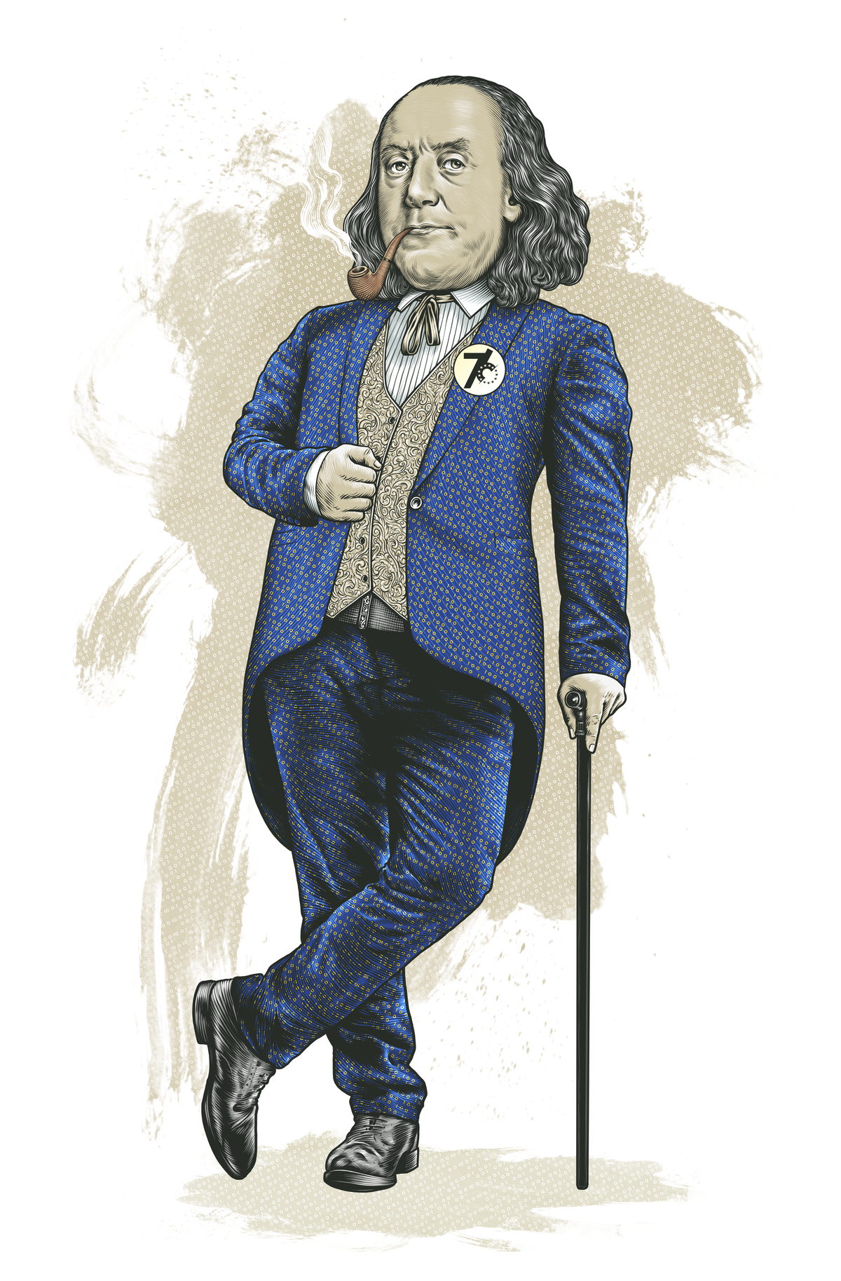 Fun Ben Franklin illustration