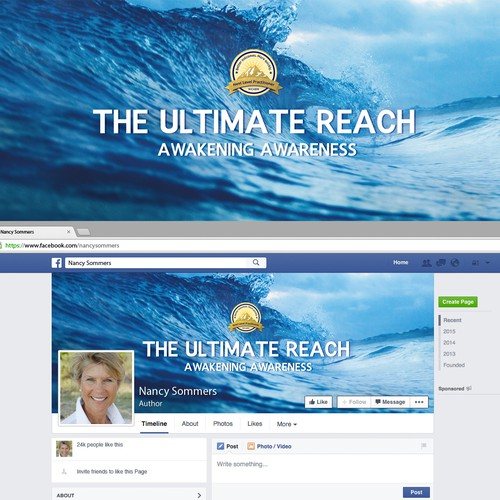 "Inspirational Facebook cover - ""The Ultimate Reach"""