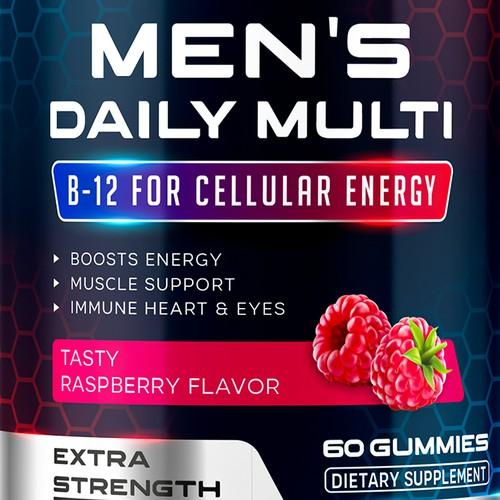 Men's Multivitamin Gummies label