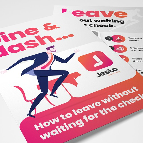 Dine & Dash TableTop/Flyer design