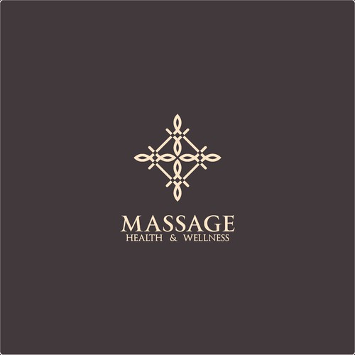 Logo for a luxury massage therapy company