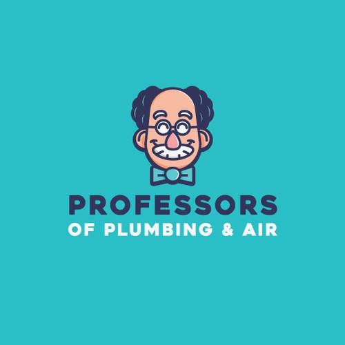 Character logo for plumbing company