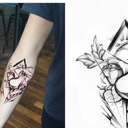 Eggplant tattoo
