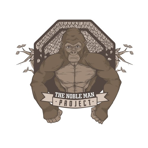 Illustrated logo for sport and fitness program The Noble Man Project