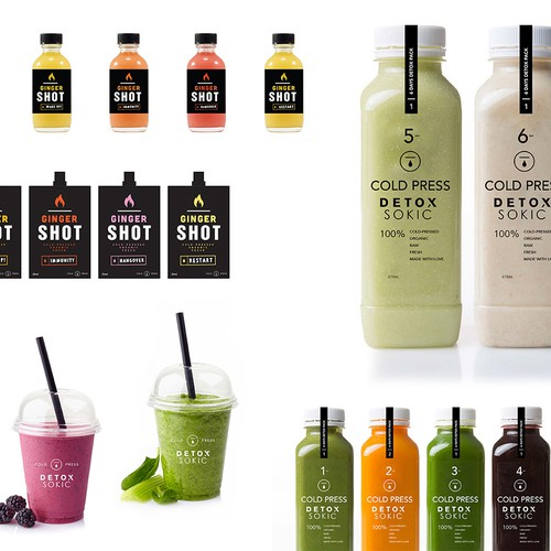 Cold Press Detox Juices - Branding & Packaging