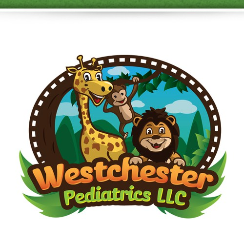 Jungle LOGO theme for a pediatric office located in Miami Florida
