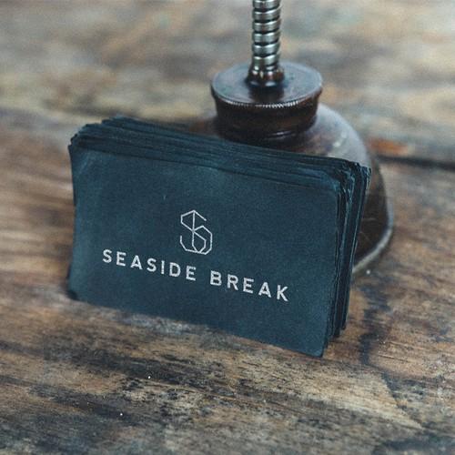 Logo design for Seaside Break, a surf deco & beach lifestyle brand