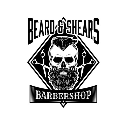 Beard and Shears Barbershop Logo
