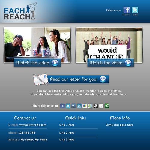 Each 1 Reach 1 Landing Page Design needs a new website design