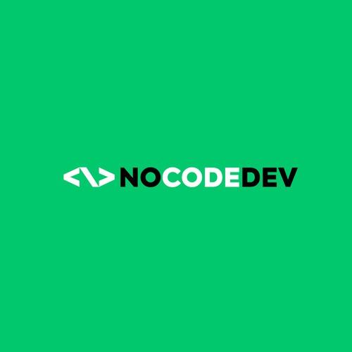 minimal logo design for NOCODEDEV