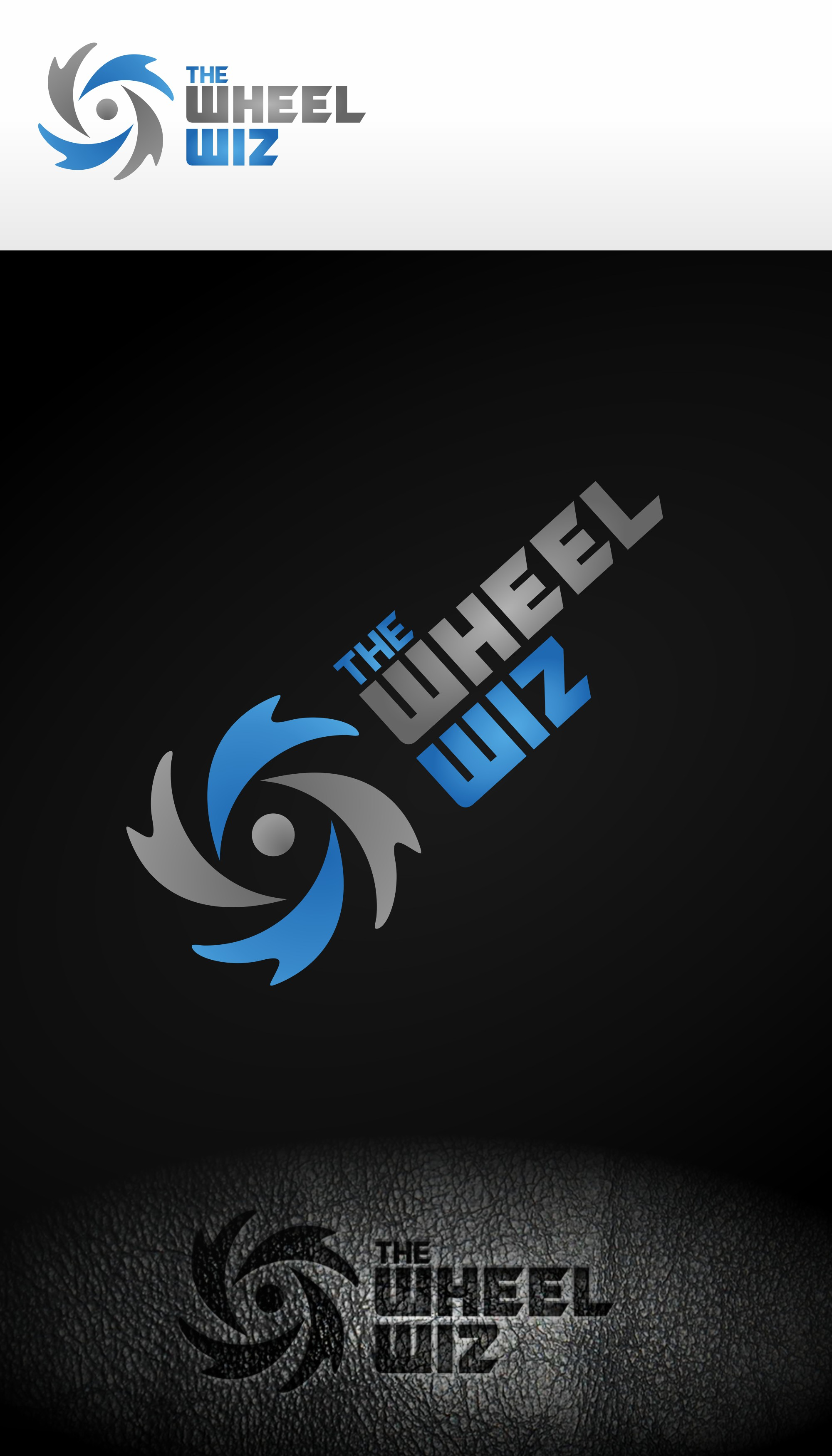 Create a unique logo for The Wheel Wiz rotating water turbine brush