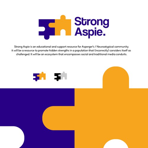 Clever and inviting Logo for an Asperger's community