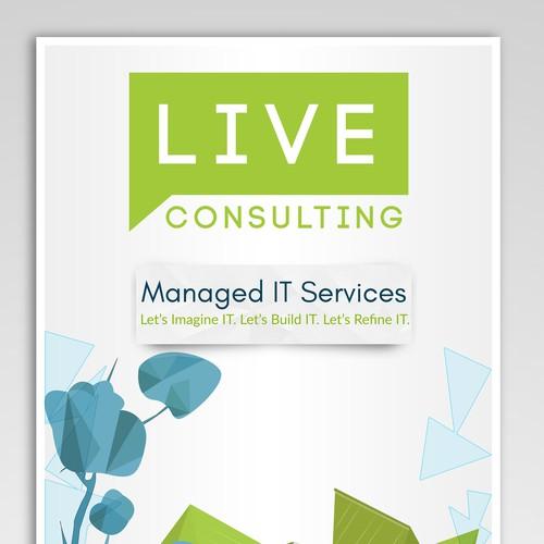 Company profile design for live Consulting.