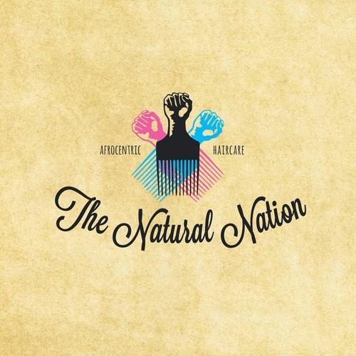 Logo for an afrocentric hair salon