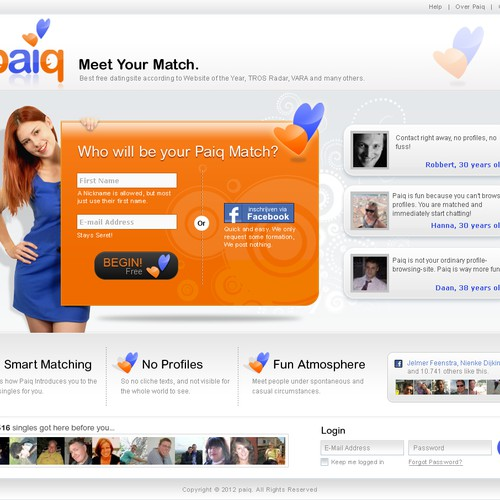 Paiq: awesome dating site looking for ditto landing page