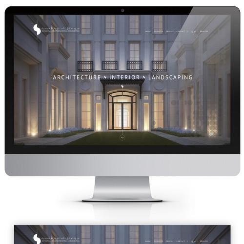 Website for architectural Design office