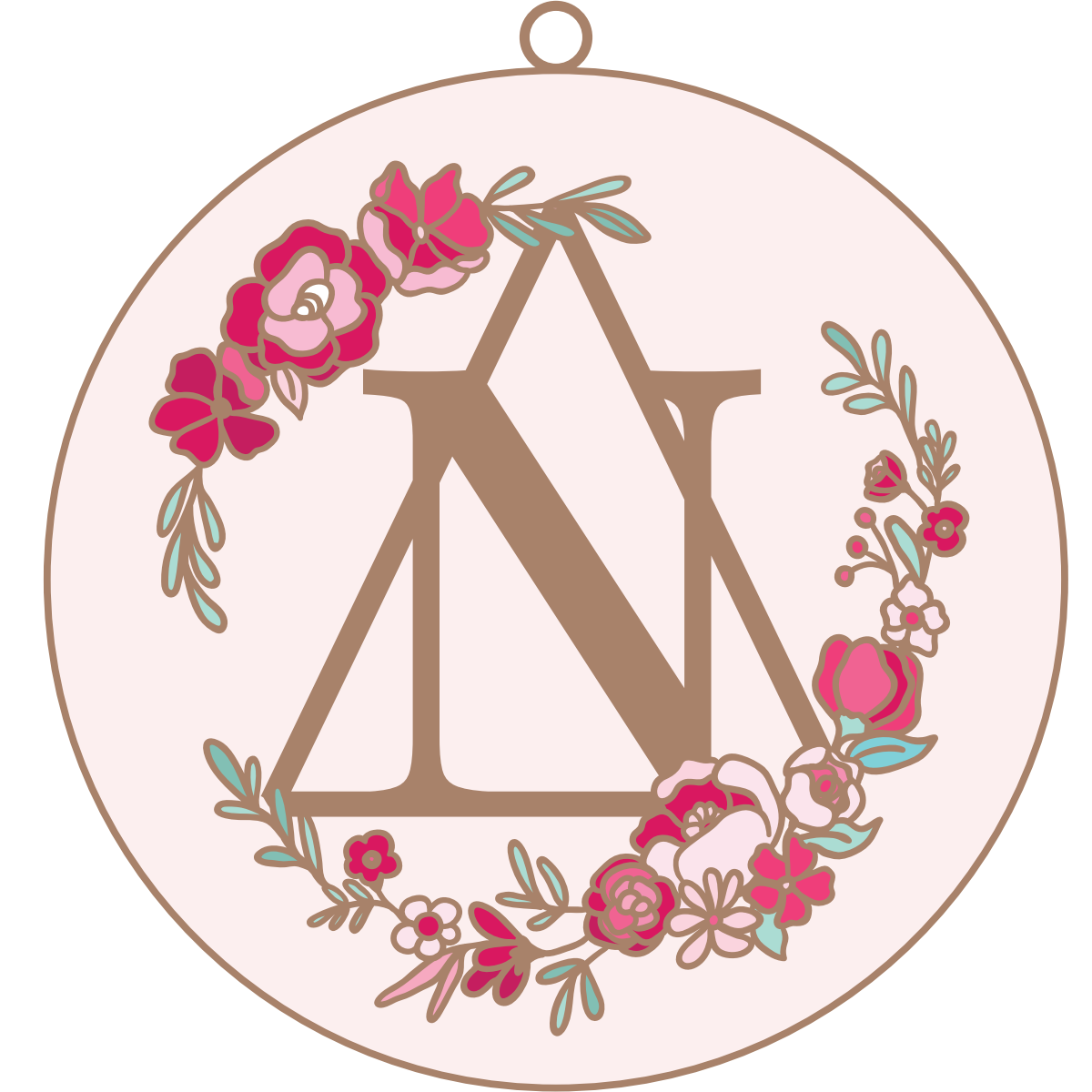 Delta Nu cloisonné pin design