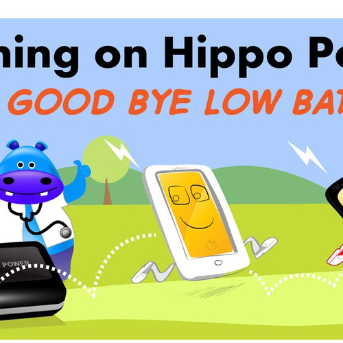 help us with new billboard design for HIPPO POWER