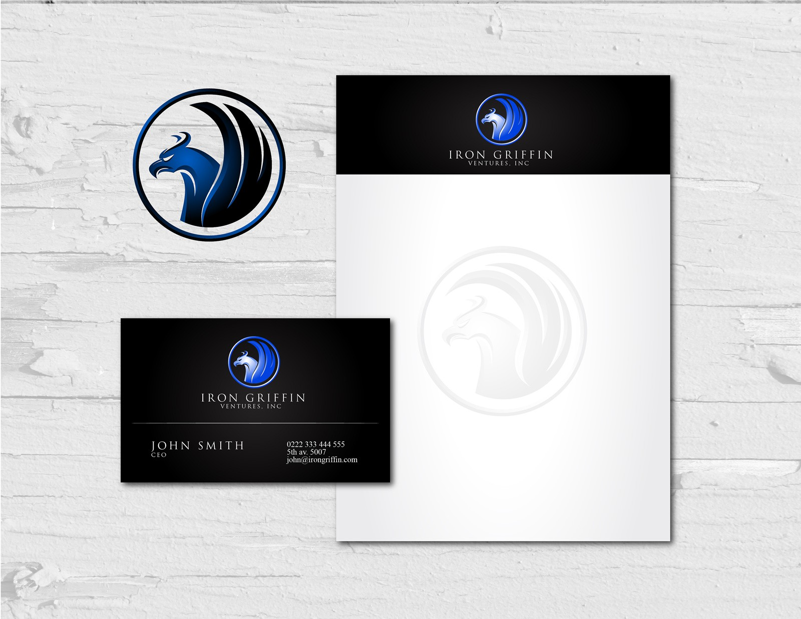 Help IRON GRIFFIN VENTURES, INC. with a new logo and business card