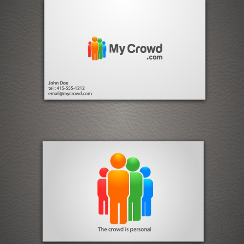 MyCrowd.com logo and business card