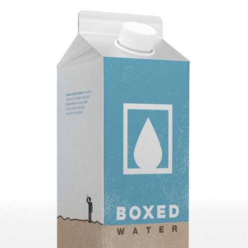 Water packaged Tetrapak Rex paper carton