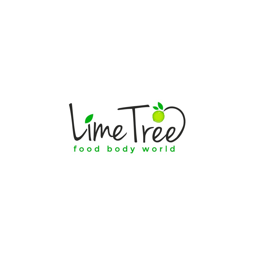 Create a cool logo for LimeTree Camp, a kids camp about food, cooking, health and sustainability
