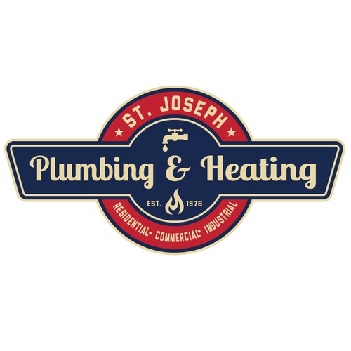 Retro, Vintage, Classic Logo for St. Joseph Plumbing  and Heating Inc.