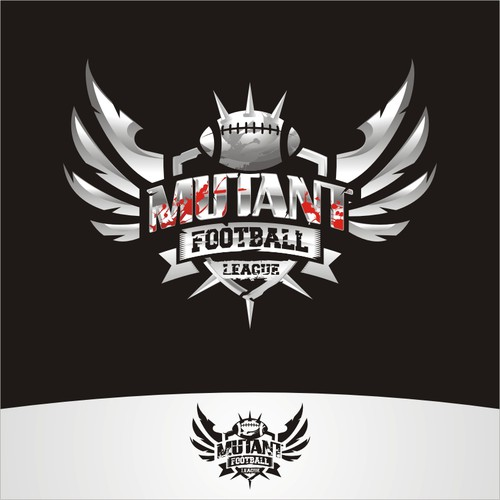 Design a killer logo for the videogame: Mutant Football League